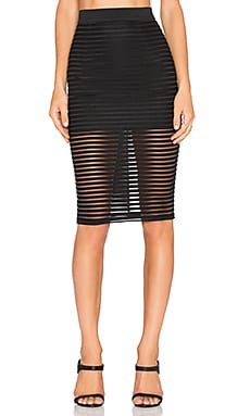RISE Parallel Lines Skirt in Black