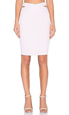 Queen V Midi Skirt in Pink