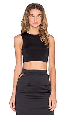RISE Blessed Cut Out Crop Top in Black