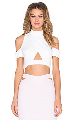 RISE Say You'll Be Mine Crop Top in White