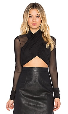 RISE Double Play Mesh Crop in Black