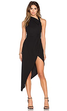 RISE OF DAWN Dark Love Split Dress in Black