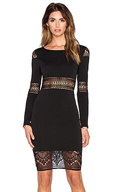 RISE OF DAWN Winter Romance Long Sleeve Dress in Black
