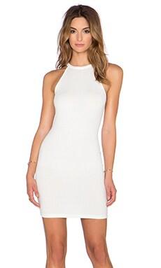 RISE OF DAWN Sunrise Rib Mini Dress in White