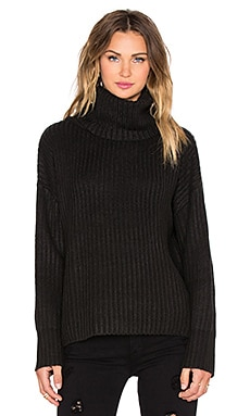 RISE OF DAWN Bold & Beautiful Roll Neck Knit Sweater in Black