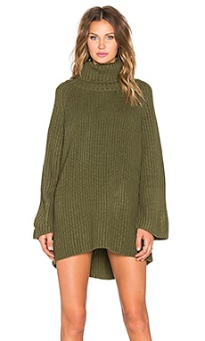 RISE OF DAWN Out Field Oversize Sweater in Khaki