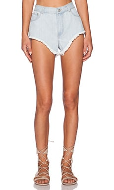 RISE OF DAWN Tai Denim Short in Light Wash
