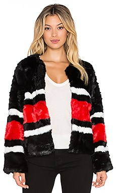 RISE OF DAWN The Nights Faux Fur Jacket in Black