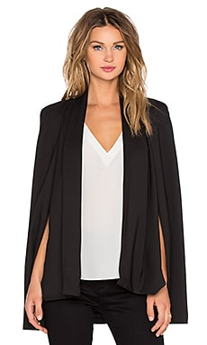 RISE OF DAWN Runaway Drape Cape in Black