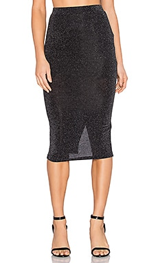 RISE OF DAWN Shimmer Skirt in Black Swirl Print