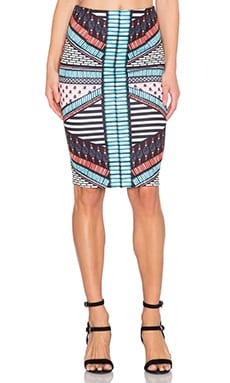 RISE OF DAWN Panama Pencil Skirt in Tribal Bead