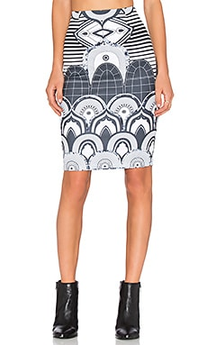 RISE OF DAWN Master of Arts Skirt in Art Deco