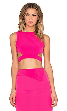 RISE OF DAWN Go All Night Crop Top in Fuschia
