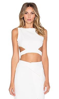 RISE OF DAWN Go All Night Crop Top in White