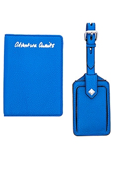 Rebecca Minkoff Travel Set in Grecian Blue