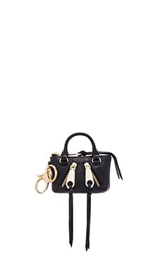 Rebecca Minkoff Moto Satchel Key Fob in Black