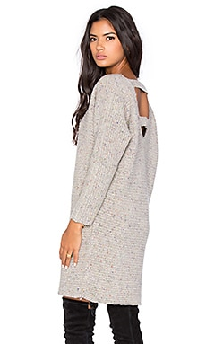 Rebecca Minkoff Bass Open Back Sweater Dress in Cream