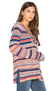 Chrissy Sweater in Multi Space Dye Stripe