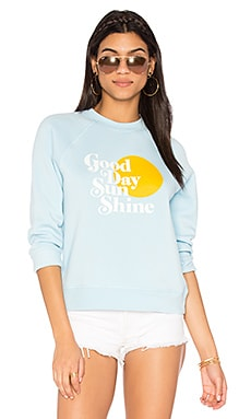 Good Day Sweatshirt in Aqua & Multi
