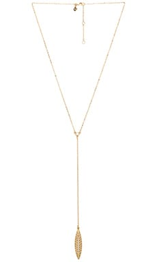 Rebecca Minkoff Leaf Necklace in Gold & Crystal