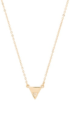 Rebecca Minkoff Triangle Pendant Necklace in 12kt Crystal