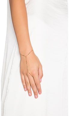 Rebecca Minkoff Beaded Hand Chain in 12kt Crystal