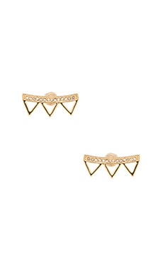 Rebecca Minkoff Triangle Crystal Earring in 12kt Crystal