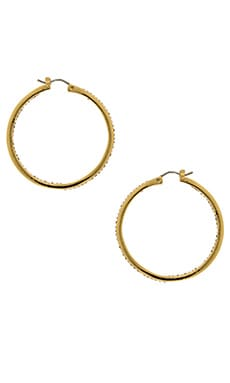 Rebecca Minkoff In and Out Hoop Earring in Gold & Crystal