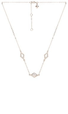 Rebecca Minkoff Three Diamond Necklace in Silver & Opal