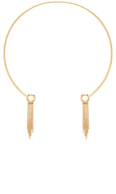 Rebecca Minkoff Wire Fringe Necklace in Gold