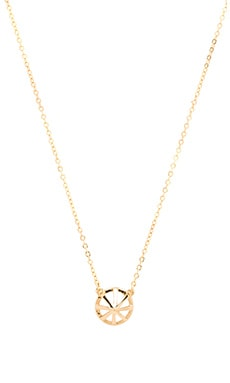 Rebecca Minkoff Caged Stud Necklace in Gold