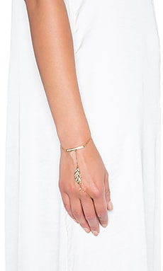 Rebecca Minkoff Feather Hand Chain in Gold