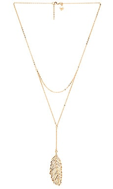 Rebecca Minkoff Feather Necklace in Gold