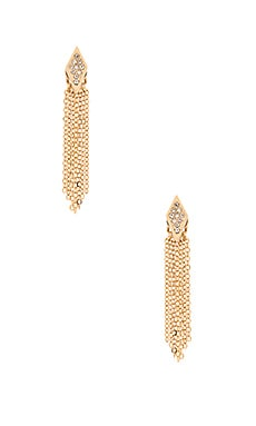 Rebecca Minkoff Pave Fringe Earrings in Gold