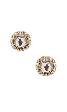 Rebecca Minkoff Crystal Halo Earrings in Gold