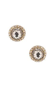 Rebecca Minkoff Crystal Halo Earrings in Gold