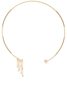 Rebecca Minkoff Fringe Collar Necklace in Gold