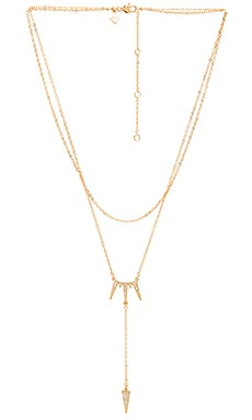 Rebecca Minkoff Triangle Drop Necklace in Gold