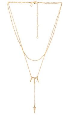 Rebecca Minkoff Triangle Drop Necklace in Gold