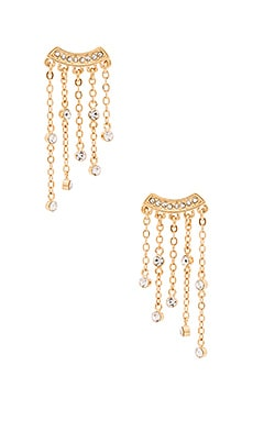 Rebecca Minkoff Fringe Earrings in Gold