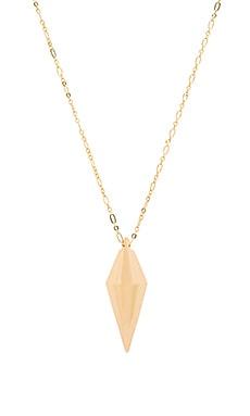 Rebecca Minkoff Diamond Pendant Necklace in Gold