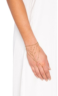 Rebecca Minkoff Multi Bead Hand Chain in Gold