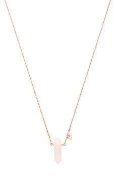 Rebecca Minkoff Crystal Pendant Necklace in Rose Gold & Rose Quartz