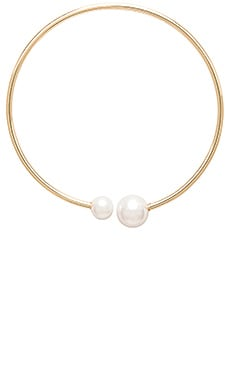 Rebecca Minkoff Pearl Collar Necklace in Gold & Pearl