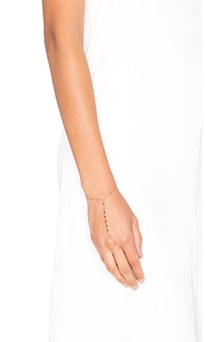 Rebecca Minkoff Studded Handchain in Gold & Purple