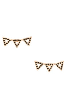 Pave Triangle Ear Climber in Rose Gold & Black