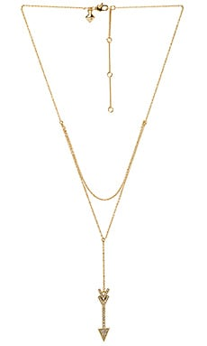 Arrow Layered Y Necklace
