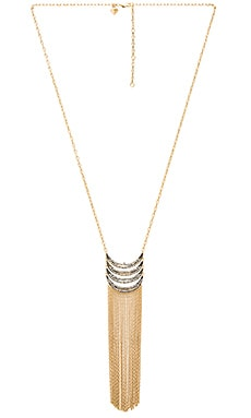Fringe Pendant Necklace in Gold & Gunmetal
