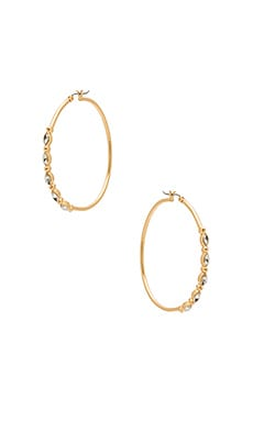 Large Hoops with Five Stone Detail