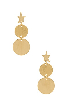 Star Girl Medallion Double Drop Earrings Rebecca Minkoff $31